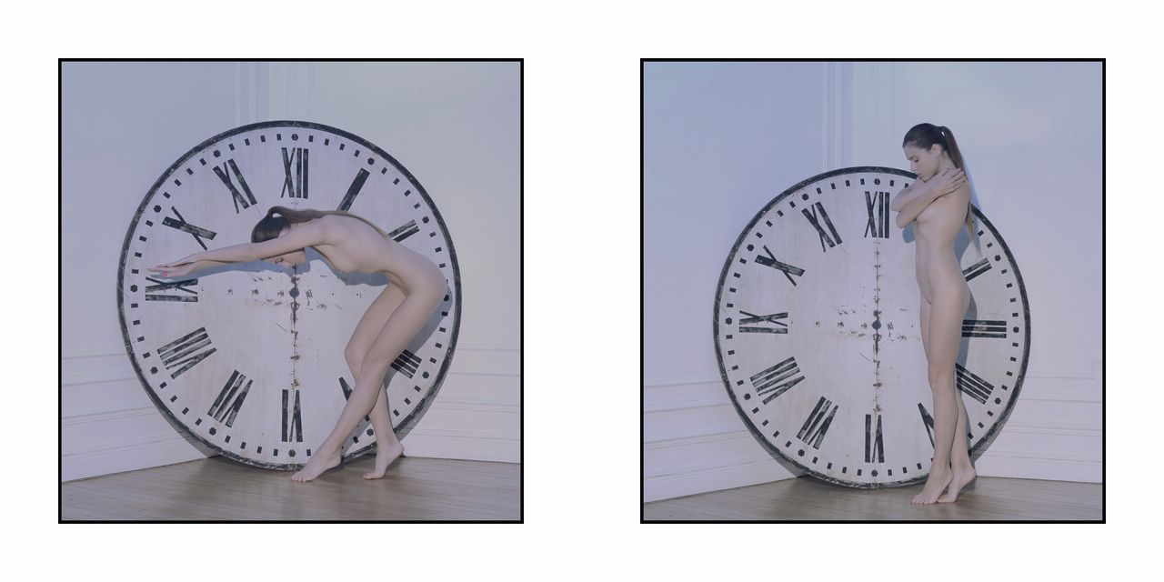 aleksa in the clock needle by philippe lesage