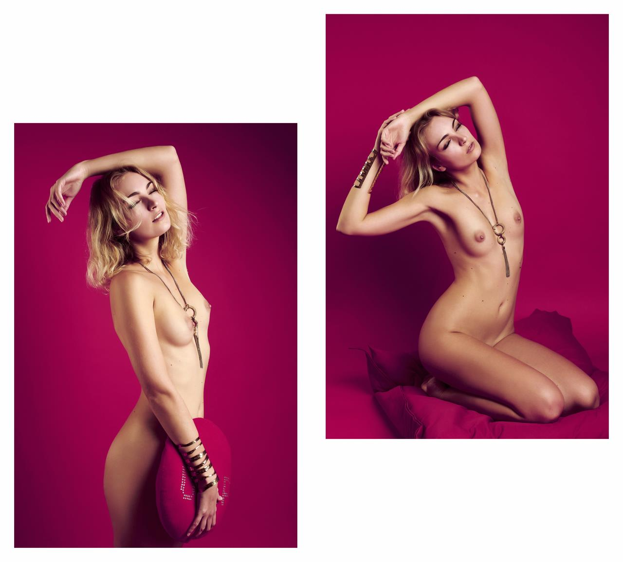 ambre renard in deep purple in the new nude by workshop nu beaute