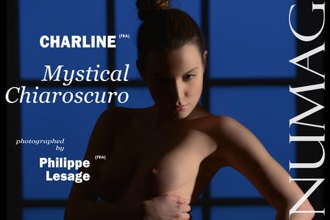 charline in mystical chiaroscuro by philippe lesage