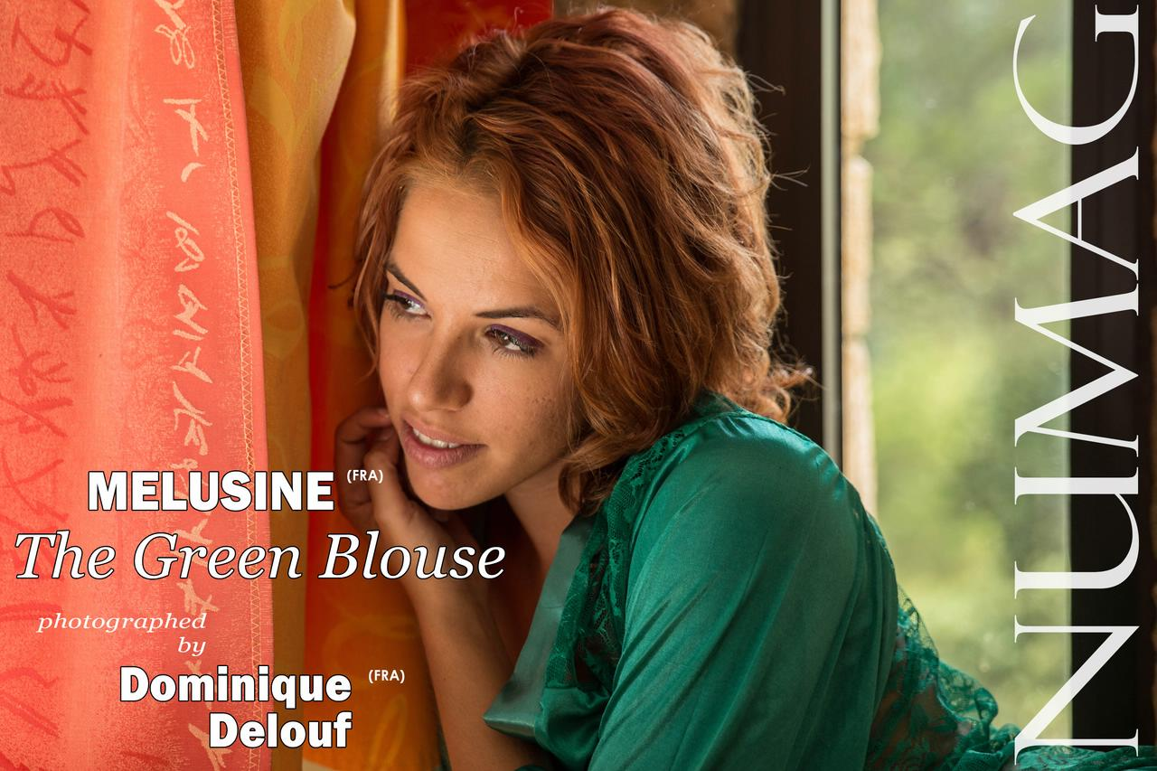 melusine in the green blouse by dominique delouf
